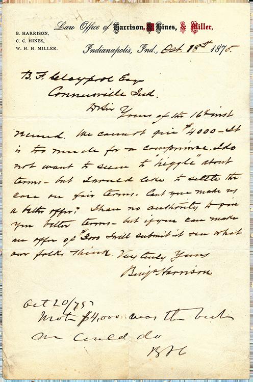 BHarrison Letter