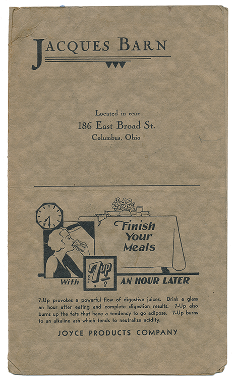 JaquesBarn menu front