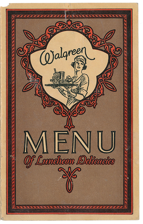 Walgreen menu front