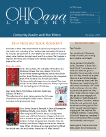 Dec 2014 Ohioana Newsletter