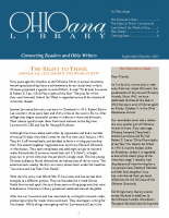 Sept Oct 2015 Ohioana Newsletter