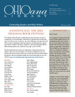 Feb 2016 Ohioana Newsletter