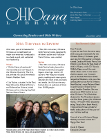 Dec 2016 Ohioana Newsletter